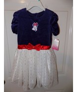 Disney Minnie Mouse Velour Dress W/Glitter Tulle Size 5T Girl's NEW  - $37.99