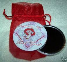 "RED HAT Hi Society purse mirror & gift bag 3"" - $7.91"