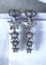 Authentic Christian Dior 2018 LIMITED EDITION CRYSTAL STAR LONG EARRINGS