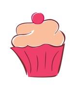 Fuchsia Pink Cupcake-Digital Download-ClipArt-Art Clip-Digital Art - $4.00