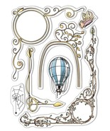 """Ciao Bella Stamping Art Clear Stamps 6""""X8""""-Frames, Aesop's Fables - $18.35"""