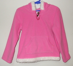 Girls Carters Pink Fleece Long Sleeve Hooded Top Size 4 - $4.95