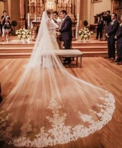 3m/10ft White/Ivory 1T layer cathedral  wedding bridal veil with comb - $57.42