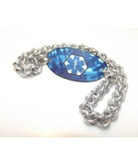 Blue Tie Dye Chainmaille Medical Alert Bracelet - $35.00