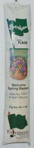 Evergreen Enterprises 13344 Welcome Spring Basket Sculpties Flag