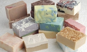 Lot Of 4 Goat Milk And Shea Butter Handmade Soap VARIETY