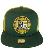 Green Bay Men's Patch Style Breathable Snapback Baseball Cap (Green/Gold) - $13.95