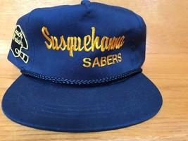 Vintage Susquehanna Sabers Coach Walsh Trucker Style SnapBack Cap Hat Yu... - $24.04