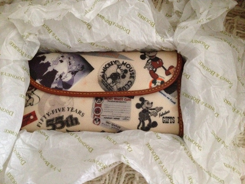 Primary image for Disney Dooney & Bourke 55th Annivrsary Wallet ~ EUC with original box, tags, RAR