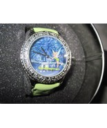 Disney Tinkerbell Green Band Where the Night Is As Bright As the Day watch - $59.95