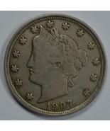 1907 Liberty Head circulated nickel F details Liberty visible - $15.00