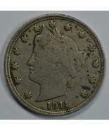 1911 Liberty Head circulated nickel F details Liberty visible - $13.00
