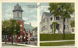 Universalist Church Towanda Pennsylvania Post Card - $3.00