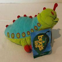 "Disney Store A Bugs Life Heimlich Caterpillar Beanie Plush Stuffed Animal 8"" image 3"