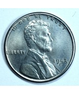 1943 D Lincoln uncirculated steel wheat penny  - $10.00