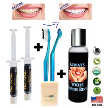 New Organic Fresh Mint Activated Charcoal Natural Teeth Whitening Gel U... - $14.45