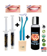 New Organic Fresh Mint Activated Charcoal Natural Teeth Whitening Gel U... - $10.49