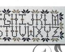 Alphabet Sampler primitive cross stitch chart The Stitcherhood