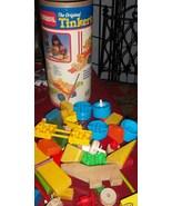 VINTAGE ORIGINAL TINKER TOYS PLAYSKOOL 118 SUPER SET WOODEN  - $20.00