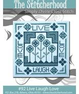 Live Love Laugh primitive cross stitch chart The Stitcherhood - $8.10