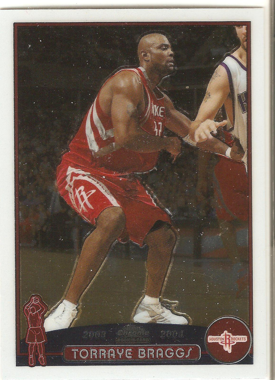 Torraye Braggs Topps Chrome 03-04 #157 Houston Rockets Harlem Globetrotters