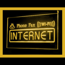 130037B Interent Cafe Wi-Fi Phone Fax Laptop Initiative Display LED Light Sign - $18.00