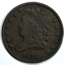 1834 Classic Head circulated half cent VF details - $75.00
