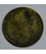 1853 3 cent circulated silver coin F details - $47.50