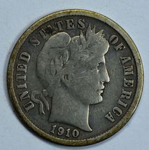 1910 Barber circulated silver dime F details - $12.00