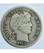 1912 D Barber circulated silver dime F details - ₹1,008.15 INR