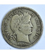 1906 Barber circulated silver dime VF details - £12.28 GBP