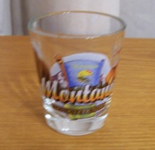 Montana Big Sky Country Shot Glass Wildlife Scene - $8.90