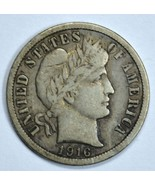 1916 Barber circulated silver dime VF details - €14,22 EUR