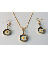 Eggs in Frying Pan Jewelry Set (goldtone)  - $16.00