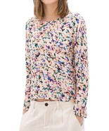 NWT $59.9 Zara Printed Floral Long sleeved Blouse Top size S Multicolor - $45.00