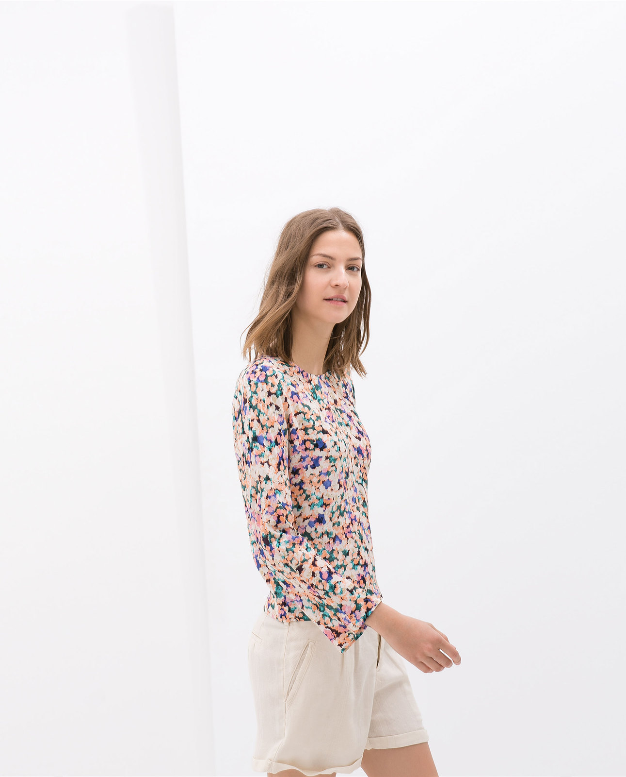 Zara Printed Combined T Shirt Cotswold Hire