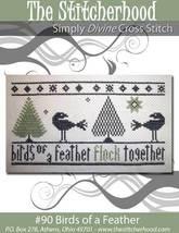 Birds Of A Feather primitive cross stitch chart The Stitcherhood - $8.10