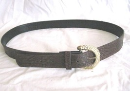 """Women's Size 16 Large Brown Textured Belt Gold Tone Buckle 32-36"""" Long 1... - $7.75"""