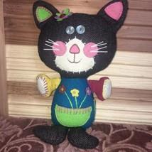 Patchwork Cat Applique Doll - $15.45