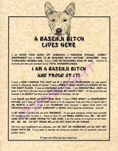 A Basenji Bit^h Lives Here - $20.00