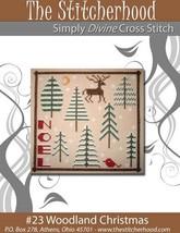 Woodland Christmas primitive cross stitch chart The Stitcherhood - $7.20