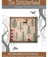 Woodland Christmas primitive cross stitch chart The Stitcherhood - $7.20