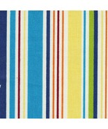 Longaberger Sunny Day Stripe 100% Cotton Fabric 5 Yards New Great Quality - $54.40
