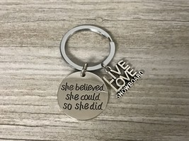 Snowboarding She Believed She Could So She Did Keychain - $9.99