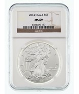 2014 Silver American Eagle Graded by NGC as MS-69 - €39,96 EUR