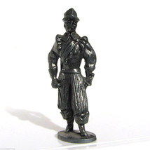 Pewter Musketeer #8 Kinder Surprise Metal Soldier Figurine Vintage Toy 4 cm - $6.88