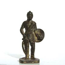 INCAS 4 *2 Kinder Surprise Metal Soldier Figurine Vintage Toy 4 cm Brass... - $18.76
