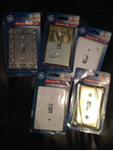 Single Switch Metal Lightswitch Wall Plates Decorative  Accents - £1.79 GBP