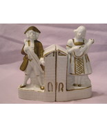 Vintage Japan Colonial Man and Woman Bookends - $9.95