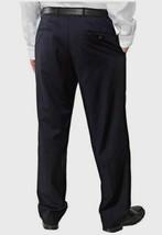 kirkland signature men's wool pleated dress slack Navy new with tags  image 2